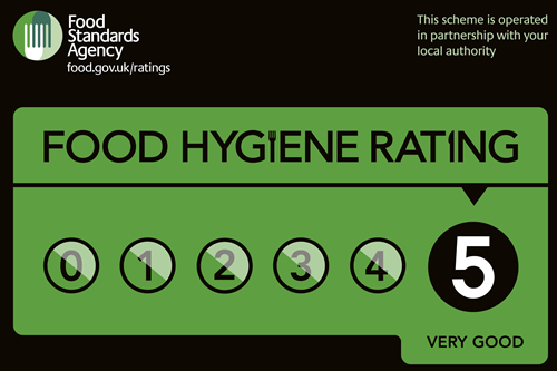 5 Star food hygiene rating