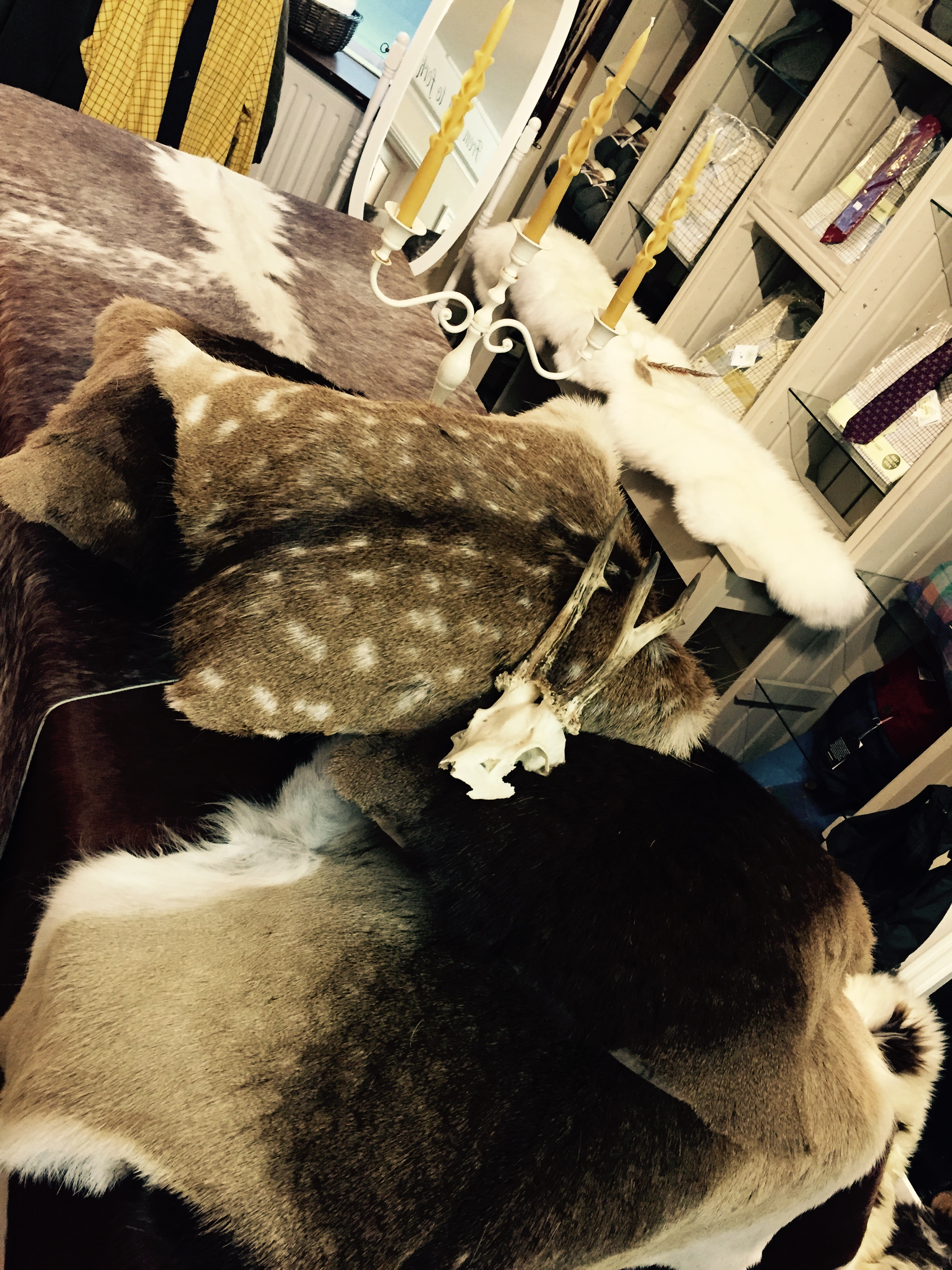Suffolk bespoke deer cushion